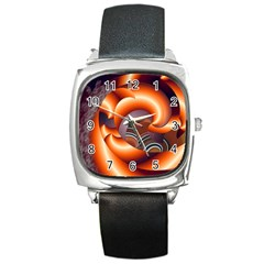 The Touch Digital Art Square Metal Watch