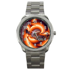 The Touch Digital Art Sport Metal Watch