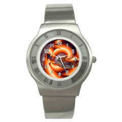 The Touch Digital Art Stainless Steel Watch