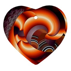 The Touch Digital Art Heart Ornament (Two Sides)
