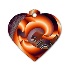 The Touch Digital Art Dog Tag Heart (Two Sides)