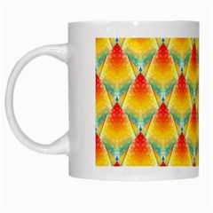 The Colors Of Summer White Mugs