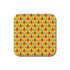The Colors Of Summer Rubber Coaster (Square)