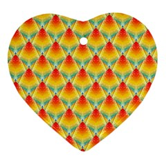 The Colors Of Summer Heart Ornament (Two Sides)