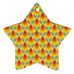 The Colors Of Summer Star Ornament (two Sides)