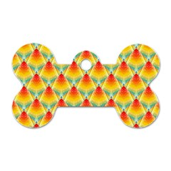 The Colors Of Summer Dog Tag Bone (One Side)