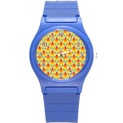 The Colors Of Summer Round Plastic Sport Watch (s)