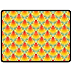 The Colors Of Summer Double Sided Fleece Blanket (large)
