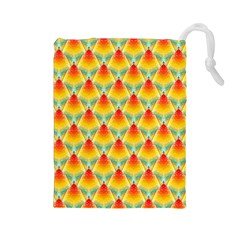 The Colors Of Summer Drawstring Pouches (large)