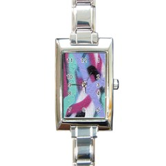 Texture Pattern Abstract Background Rectangle Italian Charm Watch