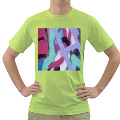 Texture Pattern Abstract Background Green T Shirt