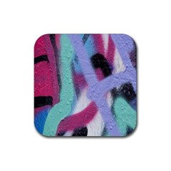 Texture Pattern Abstract Background Rubber Square Coaster (4 Pack)