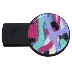 Texture Pattern Abstract Background USB Flash Drive Round (1 GB)