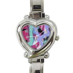 Texture Pattern Abstract Background Heart Italian Charm Watch