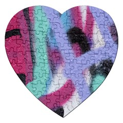 Texture Pattern Abstract Background Jigsaw Puzzle (heart)
