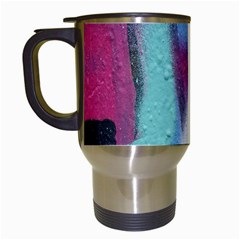 Texture Pattern Abstract Background Travel Mugs (White)