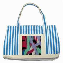 Texture Pattern Abstract Background Striped Blue Tote Bag