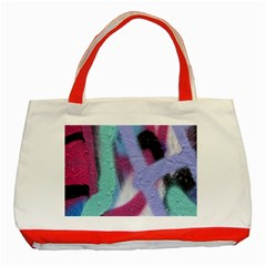 Texture Pattern Abstract Background Classic Tote Bag (Red)