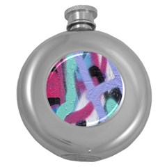 Texture Pattern Abstract Background Round Hip Flask (5 oz)