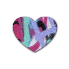 Texture Pattern Abstract Background Heart Coaster (4 Pack)