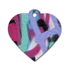 Texture Pattern Abstract Background Dog Tag Heart (Two Sides)