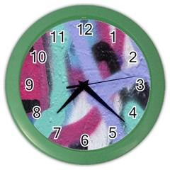 Texture Pattern Abstract Background Color Wall Clocks