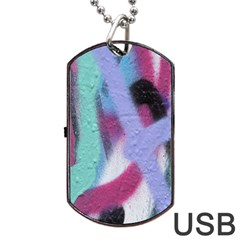 Texture Pattern Abstract Background Dog Tag USB Flash (Two Sides)