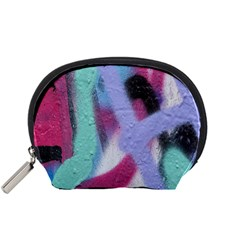 Texture Pattern Abstract Background Accessory Pouches (small)