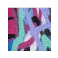 Texture Pattern Abstract Background Small Satin Scarf (square)