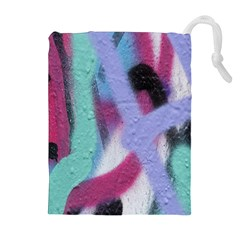 Texture Pattern Abstract Background Drawstring Pouches (Extra Large)