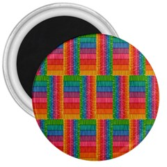 Texture Surface Rainbow Festive 3  Magnets