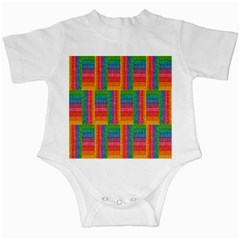 Texture Surface Rainbow Festive Infant Creepers
