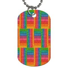 Texture Surface Rainbow Festive Dog Tag (Two Sides)