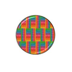 Texture Surface Rainbow Festive Hat Clip Ball Marker (10 pack)