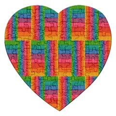 Texture Surface Rainbow Festive Jigsaw Puzzle (Heart)