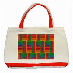 Texture Surface Rainbow Festive Classic Tote Bag (red)