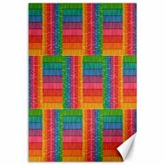 Texture Surface Rainbow Festive Canvas 12  x 18