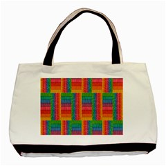 Texture Surface Rainbow Festive Basic Tote Bag (Two Sides)