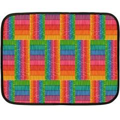 Texture Surface Rainbow Festive Double Sided Fleece Blanket (mini)