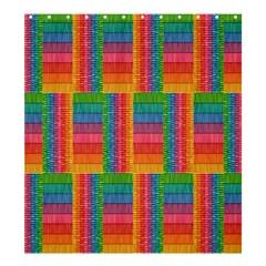 Texture Surface Rainbow Festive Shower Curtain 66  x 72  (Large)