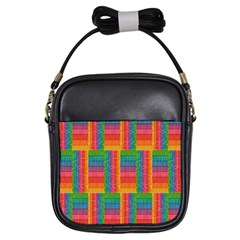 Texture Surface Rainbow Festive Girls Sling Bags