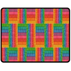 Texture Surface Rainbow Festive Fleece Blanket (medium)