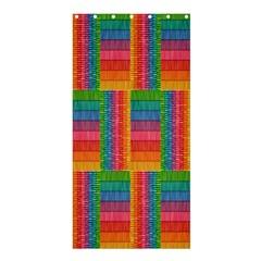 Texture Surface Rainbow Festive Shower Curtain 36  x 72  (Stall)
