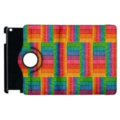 Texture Surface Rainbow Festive Apple Ipad 2 Flip 360 Case