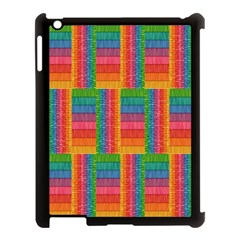 Texture Surface Rainbow Festive Apple Ipad 3/4 Case (black)