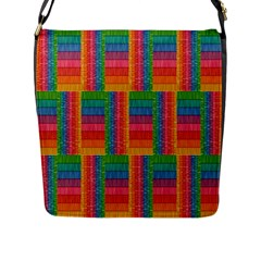 Texture Surface Rainbow Festive Flap Messenger Bag (l)