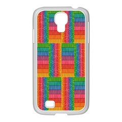 Texture Surface Rainbow Festive Samsung Galaxy S4 I9500/ I9505 Case (white)