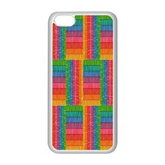 Texture Surface Rainbow Festive Apple Iphone 5c Seamless Case (white)