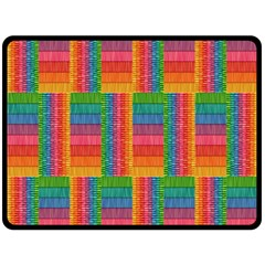 Texture Surface Rainbow Festive Double Sided Fleece Blanket (large)