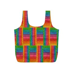 Texture Surface Rainbow Festive Full Print Recycle Bags (s)